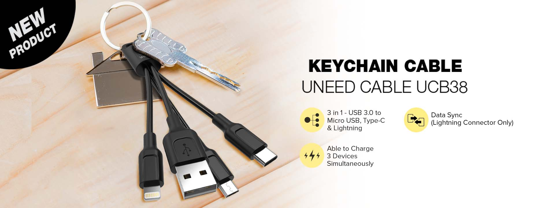 UNEED CABLE Keychain UCB38